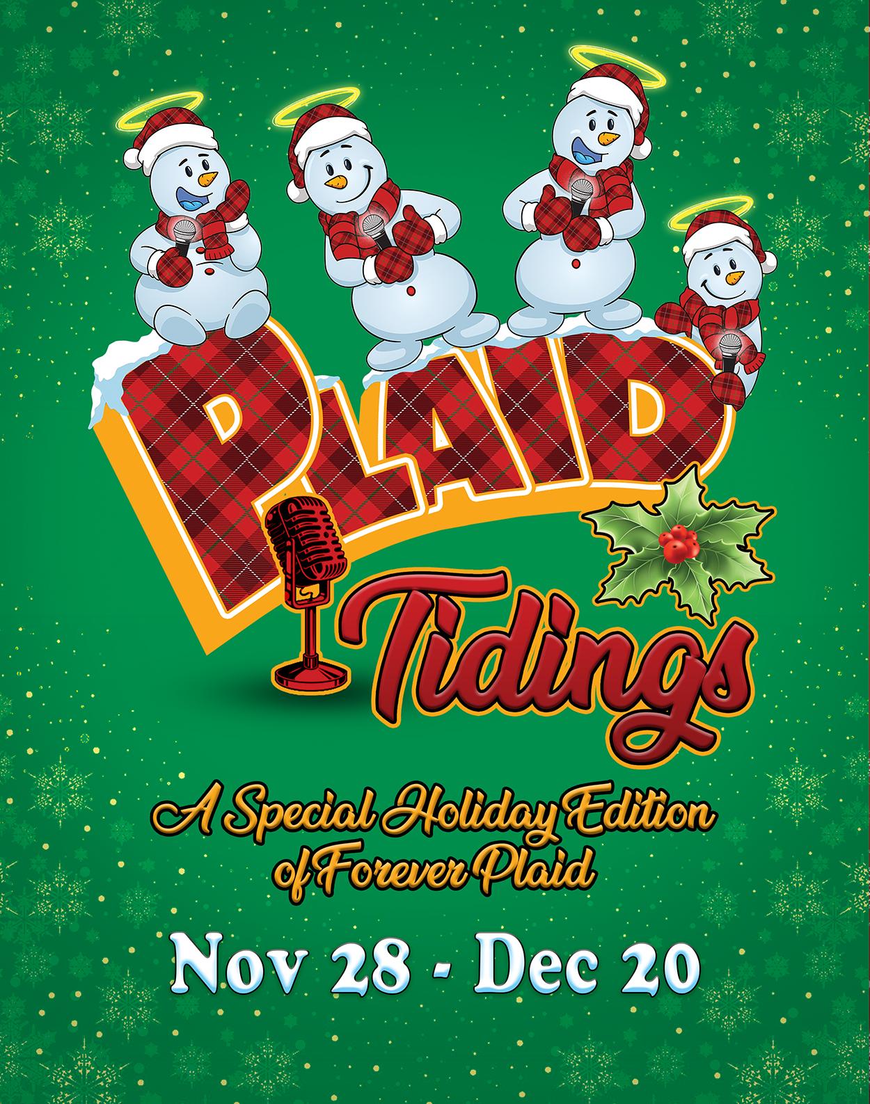 Christmas Specila On December 6 2020 Plaid Tidings | Athens Theatre | Deland, Florida